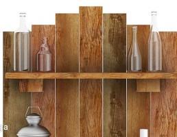 باکس چوبی + بطری