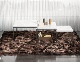 فرش پوست حیوانات + میز