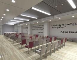 صحنه داخلی اتاق کنفرانس