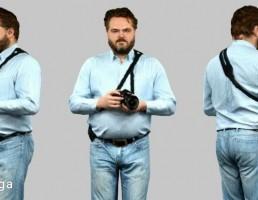 کاراکتر مرد در حال عکاسی