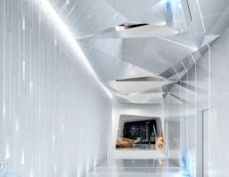 صحنه داخلی آسانسور و راهرو + لابی