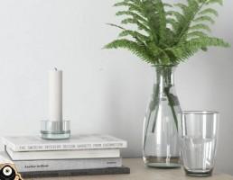 گلدان  + گیاه خانگی+ شمع + کتاب