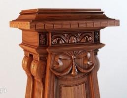 پایه ستون چوبی