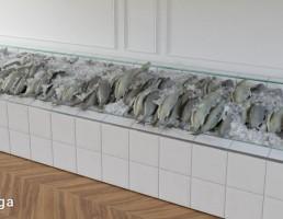 ماهی یخ زده فروشگاهی