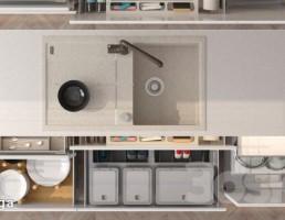 سینک ظرفشویی + کشو وسایل